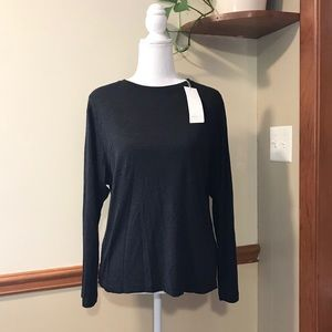 💕🌵VINCE NWT Charcoal Long Sleeve T Shirt size XS